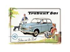 Nostalgic-type tôle carte postale 10x14 CM-trabant-belle était le temps
