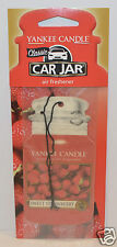 1 YANKEE CANDLE SWEET STRAWBERRY CLASSIC CAR JAR AIR FRESHENER RV CLOSET HANGING