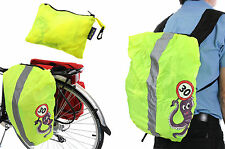 PANNIER BAG,BACKPACK,RUCKSACK HI VIZ REFLECTIVE RAIN COVER YEL FLUORESCENT