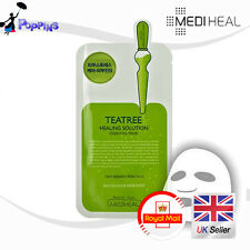 New MEDIHEAL Teatree Healing Solution Essential Mask (1 Sheet) UK Stock