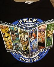 """Free Comic Book Day Since 2002"" Men's Large T-Shirt ~ WH"