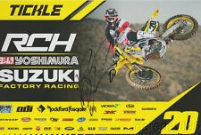 2017 Broc Tickle signed RCH Suzuki RM-Z450 AMA Supercross Motocross postcard
