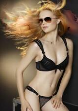 $425 MADE BY NIKI Black FRINGE Underwire TULLE BRA & PANTY Made in the UK