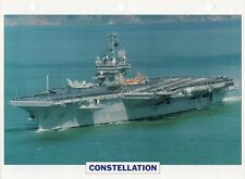 1960 USS CONSTELLATION (CV-64) Aircraft Carrier / Warship Photograph Maxi Card /