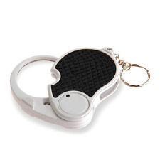 Mini Portable 5X Eye Loupe Magnifier Magnifying Glass with LEDs Light Keychain
