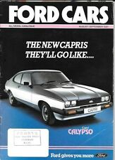 FORD FIESTA,ESCORT,CORTINA,CAPRI,GRANADA AUG./SEPT.1981 ALL MODEL SALES BROCHURE