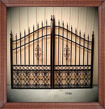 Wrought Iron Driveway Entry Gate 10Ft Wide Dual Swing. Fencing, Handrails. Beds.