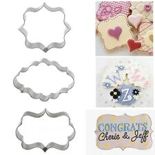 3Pcs  Sugarcraft Cutter Pastry Mould Cake Frame Fondant Tool Cookies Mold