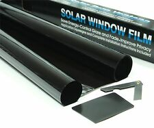DARK BLACK 15% LIGHT TRANSMISSION CAR WINDOW TINTING FILM 6m x 76cm TINT + KIT