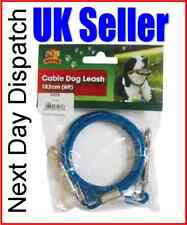 DOG LEAD VERY STRONG TIE OUT CABLE 6ft 1.8m CAMPING