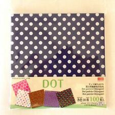 Japanese DOT PATTERN CHIYOGAMI PAPER 100Sheets 5type