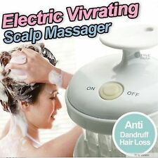 WATERPROOF Electric Scalp Massager Vibrating Head Hair Care Vibrate Brush new