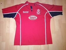 LLANELLI SCARLETS WALES MATCH WORN RUGBY SHIRT/JERSEY/MAILLOT- LOOK!!