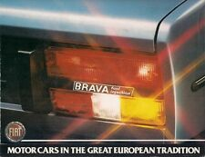 Fiat Brava 2000 Fuel Injection Sedan 1980-81 USA Market Brochure 131 Mirafiori