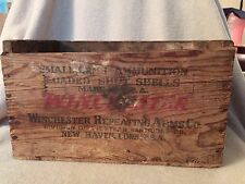 WINCHESTER Repeating Arms Co Staynless RANGER 16 GA Wooden Ammo Box Crate