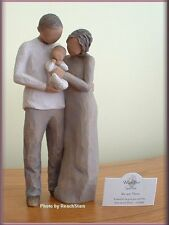 WE ARE THREE FIGURINE MOTHER FATHER NEW BABY FROM WILLOW TREE® FREE U.S. SHIP