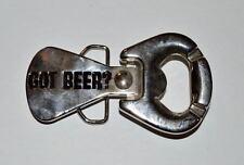 """GOT BEER? METAL 4"""" BELT BUCKLE & BOTTLE OPENER"""