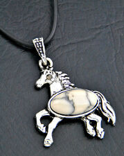 fashion white turquoise horse pendant necklace XL352