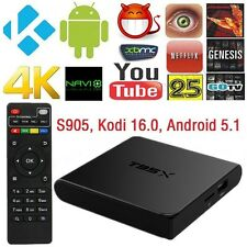 Fully Loaded 4K T95X S905X Quad Core Android 6.0 Smart TV Box 3D HD Wifi 1G/8G