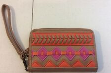jessica simpson wallet credit card holder wristlet cute! multi colored