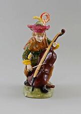Porzellan-Figur Bettelmusikant mit Bass Ernst Bohne & Söhne 9997054