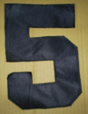 Vintage 80's black Soccer football hockey jersey number 5 nine