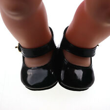 1set Doll black shoes for 43cm Baby Born zapf (only sell clothes ) B683