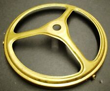 "4"" STAMPED BRASS GAS SHADE HOLDER 1 REPAIR REFERBISH PART FIXTURE"
