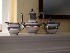 Gorham Sterling Silver Coffee Set 3pc Pot Creamer Sugar 1913 Art Deco 58 Troy Oz