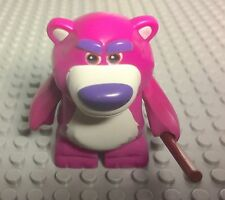 Lego Lotso The Bear Toy Story Mini Figure With Reddish Brown Bar / Stick