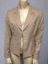 Tailor B Moss Size 2 Jacket Polyester Rayon Tan White