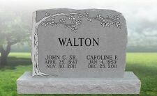 Granite Headstone Tree With Branch Grave Marker Tombstone  just add your text