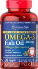 Puritan's Pride Double Strength Omega-3 Fish Oil 1200 mg Contain 600 mg EPA DHA