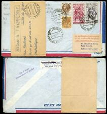 ITALY to JAPAN 1961 LUFTHANSA FIRST FLIGHT RETURNED DOCKET via HONG KONG + INDIA