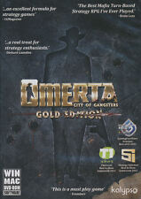 OMERTA City of Gangsters GOLD EDITION - Mobster Sim Stratey PC Game - NEW!