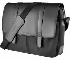 Cole Haan Black Messenger Leather Bag Case for Laptop/iPad