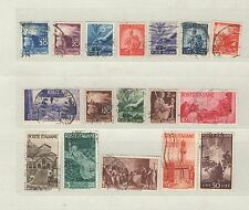 b9379 - ITALIA 1945/46 - LOTTO 17 USATI DIFFERENTI DALL'ANNATA - VEDI FOTO
