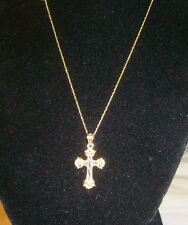 10Kt Yellow Gold Cross Pendent