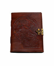 Wolf Howl Fox Vintage leather journal diary PREMIUM PAPER Cotton Handmade India