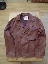 Genuine Levis Mens Leather Blazer/Jacket in Chestnut XL Used in Excellent Cond
