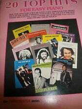 20 Top Hits for easy piano music book Chartbuster series Hal Leonard guitar/word