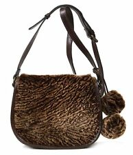 $249 PATRICIA NASH Chocolate/Brown LA CRUZ SHERPA SHOULDER Flap HANDBAG