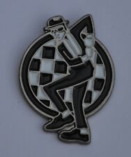 Two Tone Rudeboy Ska Man Dancing Enamel  Pin Badge