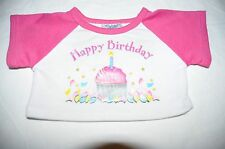 Build a Bear White/Pink 'Happy Birthday' Top with Cupcake