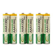 6 x AAA 3A 1350mAh Ni-MH 1.2V Volt Rechargeable Battery Green BTY LR03 R03