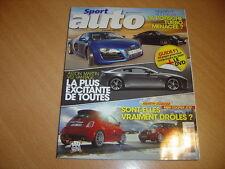 Sport Auto N°566 Audi RS6.911 Turbo / Audi R8 V10.500 EsseEsse / Mini JCW