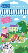 Peppa Pig Mini Sketch Book Set / Birthday Party Loot Stickers