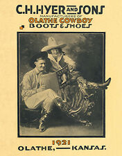 C.H.HYER AND SONS-OLATHE COWBOY BOOTS AND SHOES-1921 CATALOG COVER