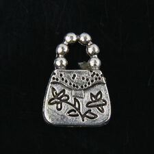 free 20pcs Tibetan Silver Handbag Charms For Jewelry Making 16x11mm J298P