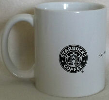 Rare Starbucks Black White Siren Logo Mug One Partner Customer Cup At A Time
